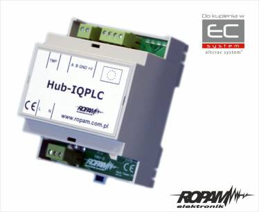 Hub-IQPLC-D4M - Koncentrator systemowy sieci SmartPLC dla systemu IQPLC - Ropam
