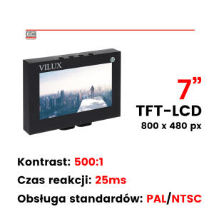 "VMT-075M - Monitor 7"", 2 x Video, PILOT"