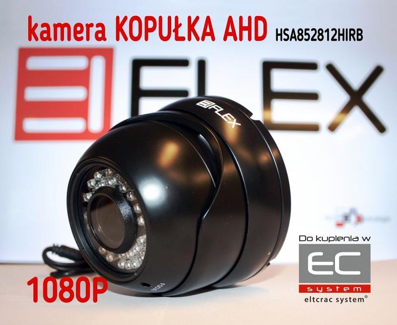 HSA852812HIRB - Kamera kopułkowa 2.0 Mpx AHD z IR 1080p, czarna - EIFLEX