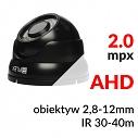 HSA852812HIRB - Kamera kopułkowa 2.0 Mpx 1080P AHD 2.8-12mm IR 40m - EIFLEX
