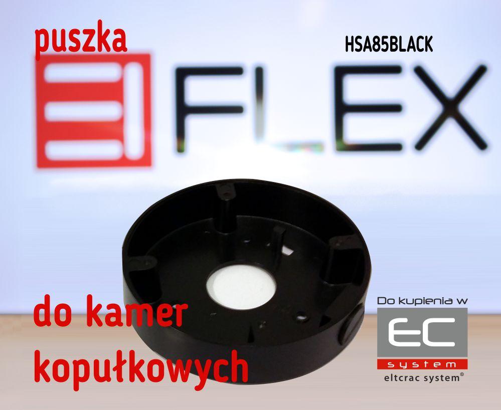 HSA85BLACK - Puszka do kamer serii EIFLEX HSA85, kolor czarny - EIFLEX