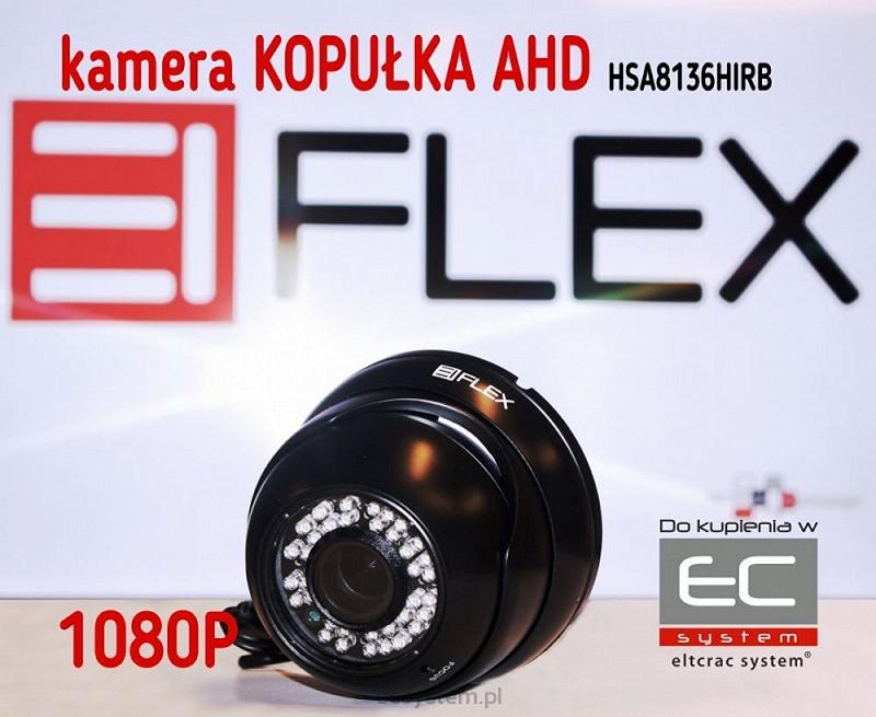 HSA8136HIRB - Kamera kopułkowa 2.0 Mpx AHD z IR 1080p, Czarna - EIFLEX