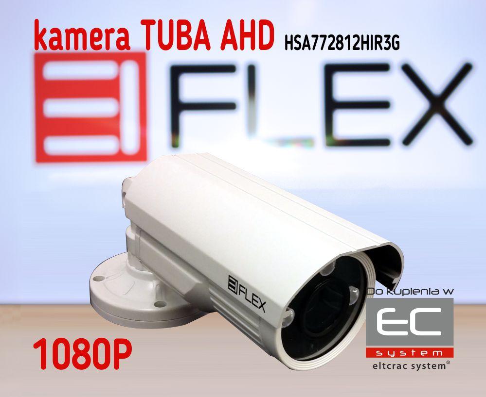 HSA772812HIR3G - Kamera tubowa 2.0 Mpx AHD z IR 1080P, 2.8-12mm, kolor biały - EIFLEX