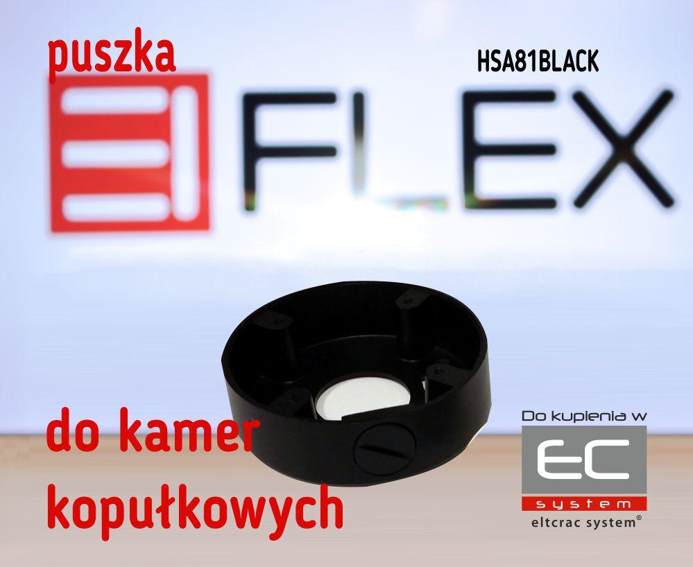 HSA81BLACK - Puszka do kamer serii EIFLEX HSA81, kolor czarny - EIFLEX