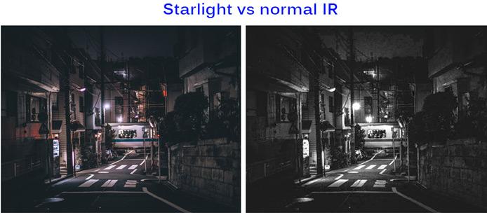 Porównanie Starlight vs normal IR