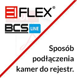 Sposób podłączenia kamer EIFLEX do rejestratora BCS LINE