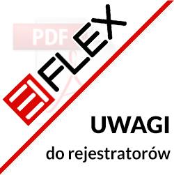 Ważne uwagi dotyczące rejestratorów EIFLEX