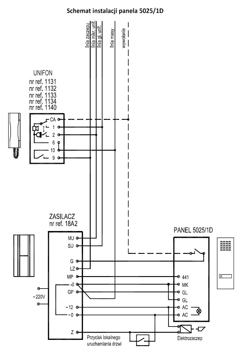 5025 1d kaseta zewn trzna ze stali nierdzewnej z 1 for Urmet 1150 1 schema elettrico